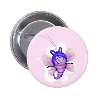 FAIRY 4 BUTTERFLY CARTOON CUTE FUNNY BUTTON