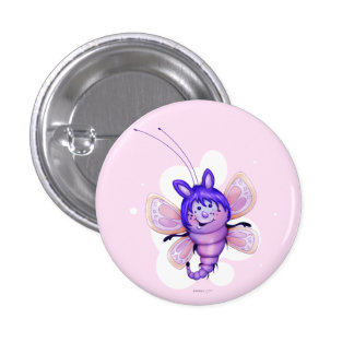 FAIRY 4 BUTTERFLY CARTOON CUTE FUNNY BUTTON Small