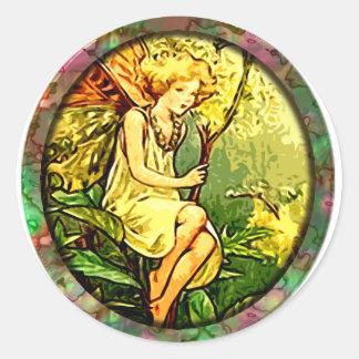 Fairy 7 classic round sticker