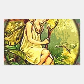 Fairy 7 rectangular sticker