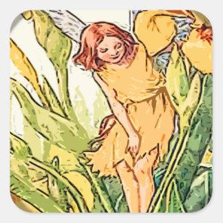 Fairy 9 square sticker