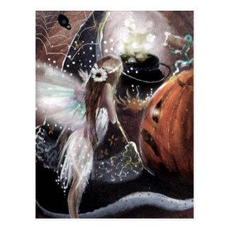 Fairy & a Witch's Brew Postcard