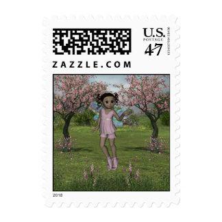 Fairy Afro Girl JazzLynn 4 Stamp