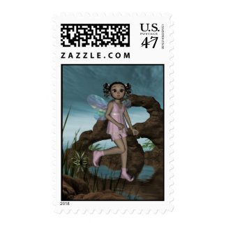 Fairy Afro Girl JazzLynn Postage 4Med
