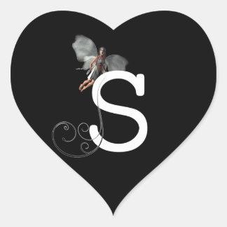 Fairy Alphabets Heart Sticker
