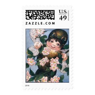 Fairy and Apple Blossoms Postage Stamp