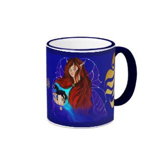 Fairy and Black Unicorn Mug