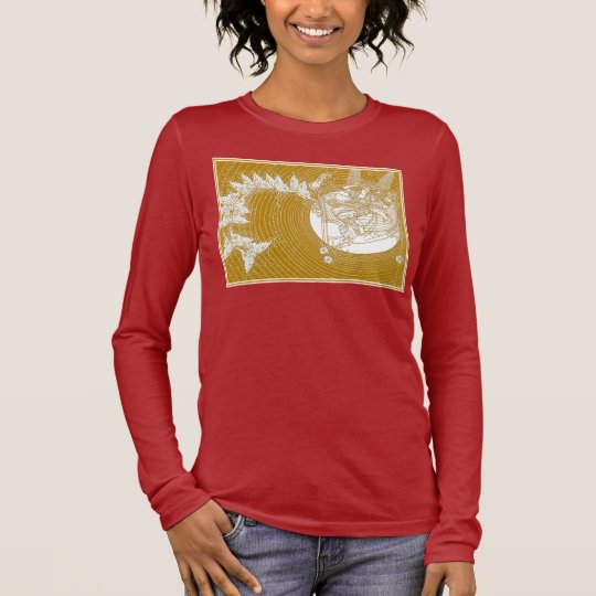 Fairy and Butterflies: Illustration by Lathrop Long Sleeve T-Shirt