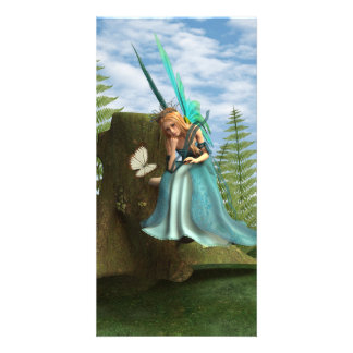 Fairy and Butterfly Customized Photo Card