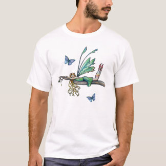 Fairy and Butterfly T-Shirt by Molly Harrison