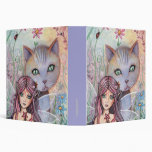 Fairy and Cat Binder by Molly Harrison