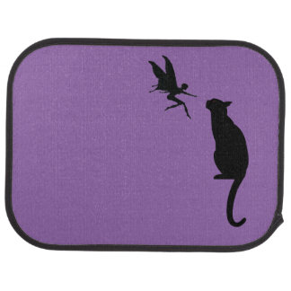 Fairy and cat car floor mat