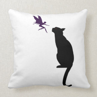 Fairy and cat pillow