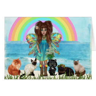 Fairy and Cats All Occasion Greeting Card