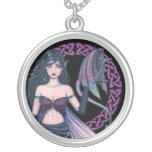 Fairy and Dragon Celtic Pendant Necklace