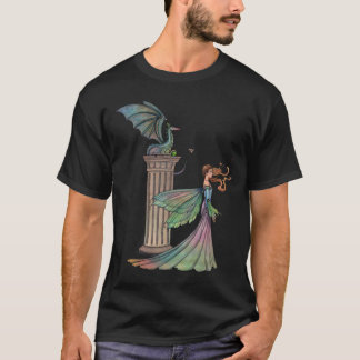 Fairy and Dragon Fantasy Art T-Shirt
