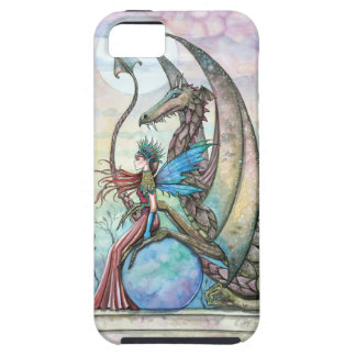 Fairy and Dragon Fantasy Art Tough iPhone Case iPhone 5 Cover