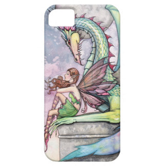 Fairy and Dragon Gothic Fantasy Art iPhone 5 Case