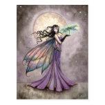Fairy and Dragonfly Mystical Fantasy Art Postcard