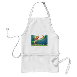 Fairy and flower adult apron