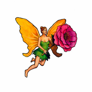 Fairy and flower cutout