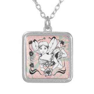 Fairy and Flower Necklace