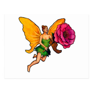 Fairy and flower postcard
