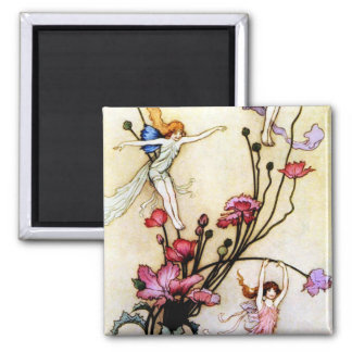 Fairy and Flowers Magnet
