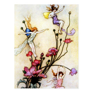 Fairy and Flowers Postcard