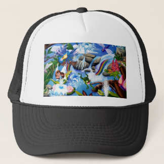 Fairy and Friends Frolic in aPond Trucker Hat