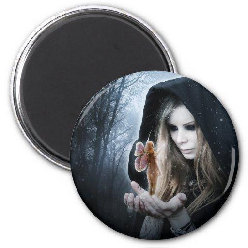 Fairy and Girl Fridge Magnet