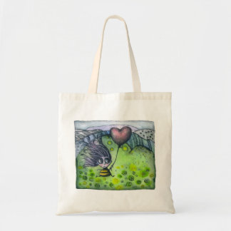 Fairy and Heart Baloon Tote Bag