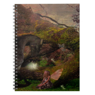 fairy and her dragon dream journal spiral notebooks