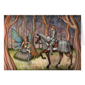 Fairy and Knight Card by Molly Harrison