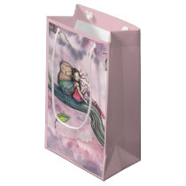Fairy and Owl Whimsical Fantasy Art Small Gift Bag