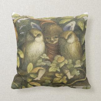 Fairy and Owls Throw Pillows