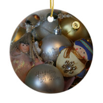 Fairy and Snowman Ornament