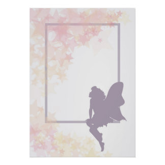 Fairy and stars poster