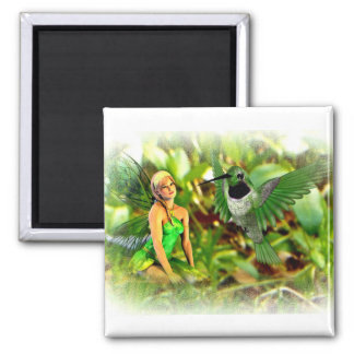 Fairy and the humming bird magnet
