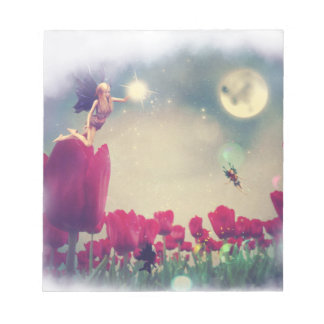 Fairy and Tulips Memo Note Pad