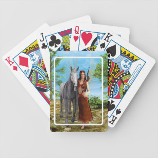 Fairy and Unicorn Bicycle Playing Cards