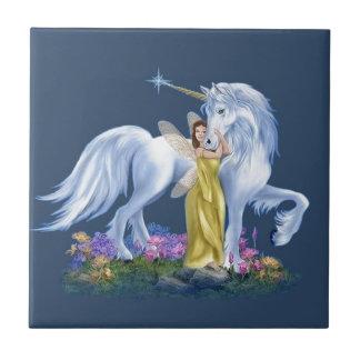 Fairy And Unicorn Ceramic Tile