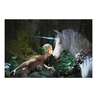 Fairy and Unicorn fantasy poster AS LOW AS 10.30