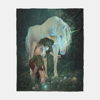 Fairy and Unicorn Magic Fleece Blanket