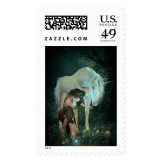 Fairy and Unicorn Magic Postage Stamp