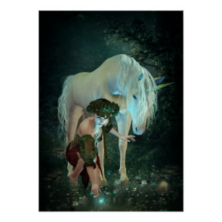 Fairy and Unicorn Magic Poster