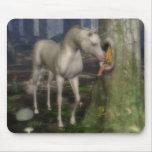 Fairy and unicorn. mouse pad