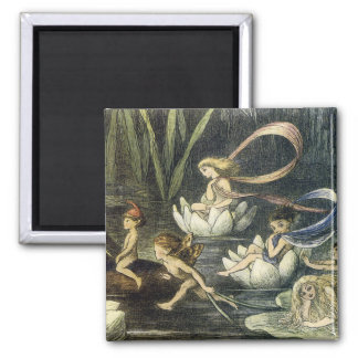 Fairy and Waterlily Magnet by Richard Doyle