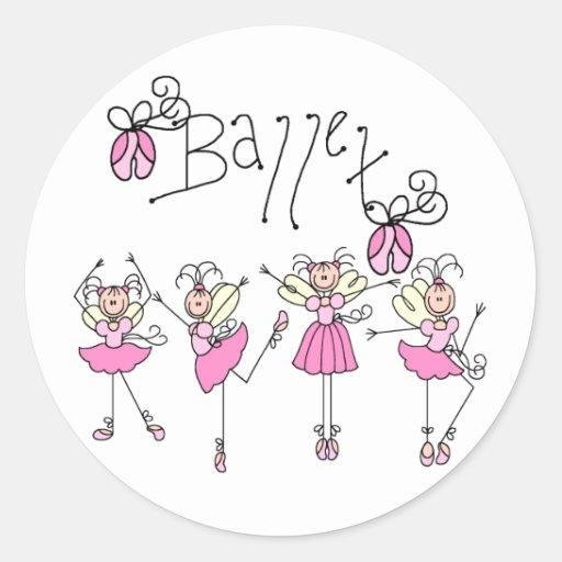 Fairy Angel Ballet Classic Round Sticker