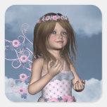 Fairy Angel Erica Square Sticker